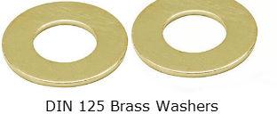 DIn 125 Brass Washers