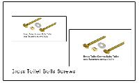 Brass Toilet Bolts Screws