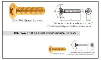 DIN 966 Phillips Oval Countersunk screws